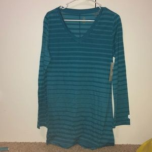 Dark/Light Blue Stripped Long Sleeve Tee